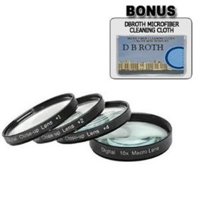 +1 +2 +4 +10 Close-Up Macro Filter Set with Pouch For The Nikon D5000, D3000 Digital SLR Cameras Which Have Any Of These (18-55mm, 55-200mm, 50mm) Nikon Lenses