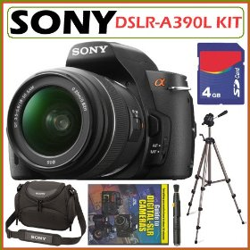 Sony DSLR Alpha DSLR-A390L 14.2MP Digital Camera & 18-55 Lens + 4GB Kit