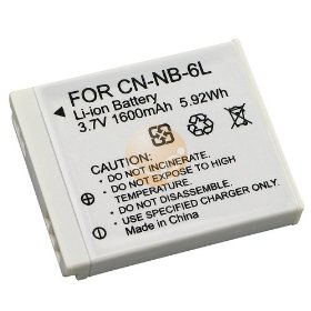HIGH Power NB-6L replacement Battery for your Canon PowerShot SD1200 IS