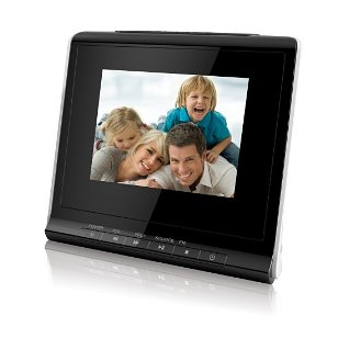 Coby 3.5-Inch Digital Photo Frame with Alarm Clock DP356BLK (Black)