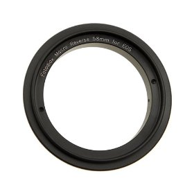 Fotodiox 58mm Filter Thread Lens, Macro Reverse Ring Camera Mount Adapter for Canon EOS 1d,1ds,Mark II, III, IV, 5D, Mark II, 7D, 10D, 20D, 30D, 40D, 50D, 60D, Digital Rebel xt, xti, xs, xsi, t1i, t2i, 300D, 350D, 400D, 450D, 500D, 550D, 1000D