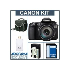 Canon EOS 60D Digital SLR Camera Body Kit, Black with EF 18-200mm f/3.5-5.6 IS Lens - U.S.A. Warranty - Bundle - with 8GB SD Memory Card, Slinger Camera Bag, Spare LP E6 Lithium-Ion Rehargeable Battery, USB 2.0 SD Card Reader