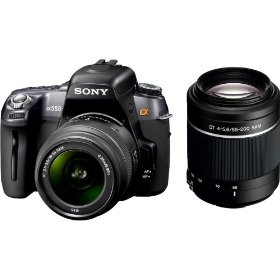 Sony Alpha DSLR-A550 Y 14.2MP Digital SLR Camera and 18-55mm and 55-200mm Lenses Boundle Kit