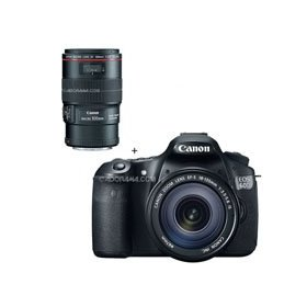 Canon EOS 60D Digital SLR Camera / Lens Kit, With EF 18-135mm f/3.5-5.6 IS USM Lens & EF 100mm f/2.8L IS USM Macro Auto Focus Lens