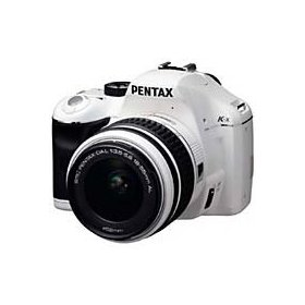 Pentax K-x - Digital camera - SLR - 12.4 Mpix - PENTAX-DA L 18-55mm AL lens - optical zoom: 3 x - supported memory: SD, SDHC - white