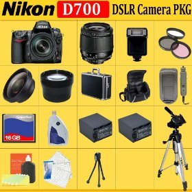 Nikon D700 12.1mp Digital SLR Camera with Accessory Kit