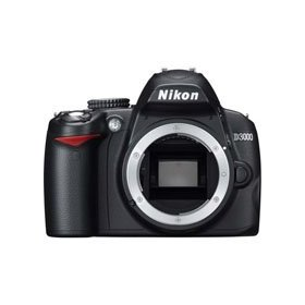 Nikon D3000 10.2 MP DSLR Camera Body - Refurbished by Nikon U.S.A.