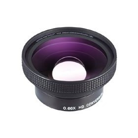 Raynox DCR-6600, Pro 0.66x High Quality Wide-Angle Conversion Lens for Camcorders & Digital Still Cameras, 52mm Mounting Thread.