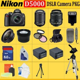 Nikon D5000 12.3 Mp Dx Digital SLR Camera with 2.7-inch Vari-angle LCD