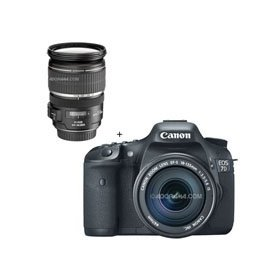 Canon EOS-7D Digital SLR Camera / Lens Kit, with Canon EF-S 18-135mm f/3.5-5.6 IS Auto Focus Lens, and EF-S 17-55mm f/2.8 IS USM Ultra Wide Angle Zoom Lens