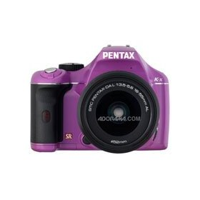 Pentax K-x Digital SLR with 18-55mm Zoom Lens (Purple Haze)