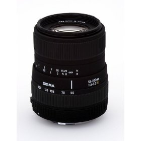 Sigma 55-200mm f/4-5.6 DC Telephoto Zoom Lens for Canon Digital SLR Cameras