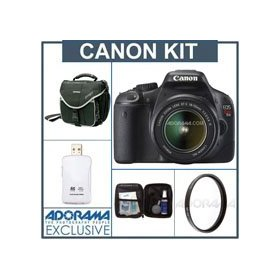 Canon EOS Rebel T2i EF-S Digital SLR Camera Kit,- Black, U.S.A. Warranty - with 18-55mm Lens, Slinger Camera Bag, USB 2.0 SD Card Reader, Digital Camera & Lens Cleaning Kit, Pro Optic Pro Digital 58mm Multi Coated UV Ultra Violet Filter