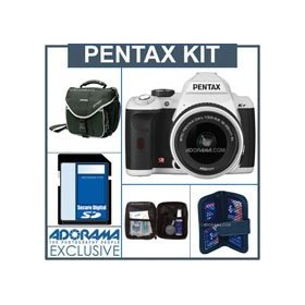 Pentax K-r Digital SLR Camera White Kit, with DA L 18-55 Zoom Lens, - 4GB SD Memory Card, Camera Bag, Professional Lens Cleaning Kit, Digital Memory Case