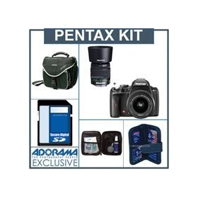 Pentax K-r Digital SLR Camera Kit, Black with 18-55mm and 50-200mm Zoom Lenses,- 4GB SD Memory Card, Camera Bag, Professional Lens Cleaning Kit, Digital Memory Case