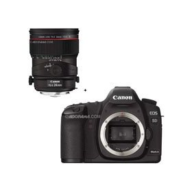 Canon EOS-5D Mark II Digital SLR Camera Body with TS-E 24mm f/3.5L II Tilt-Shift Lens
