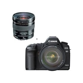 Canon EOS-5D Mark II Digital SLR Camera Body Kit with EF 24-105L IS & EF 20mm f/2.8 USM AutoFocus Ultra Wide Angle Lens