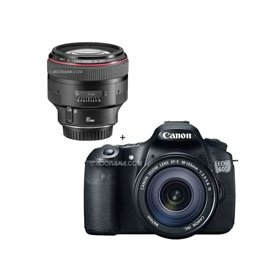 Canon EOS 60D Digital SLR Camera / Lens Kit. With EF-S 18-135mm f/3.5-5.6 IS Lens & EF 85mm f/1.2L II USM AutoFocus Telephoto Lens