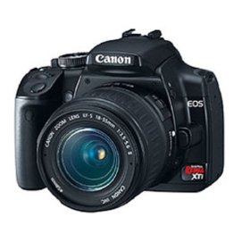 Canon Digital Rebel XTi 10.1MP Digital SLR Camera with EF-S 18-55mm f/3.5-5.6 Lens (Black)