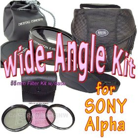 Wide-Angle Kit for SONY Alpha dSLRs and the 18-55mm or 18-70mm Lens