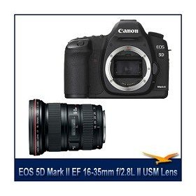 Canon EOS 5D Mark II 21.1MP Full Frame CMOS Digital SLR Camera with Canon EF 16-35mm f/2.8L II USM Ultra Wide Angle Zoom Lens