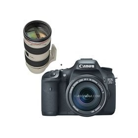 Canon EOS-7D Digital SLR Camera / Lens Kit, with Canon EF-S 18-135mm f/3.5-5.6 IS Auto Focus Lens, and EF 70-200mm f/2.8L IS II USM Lens