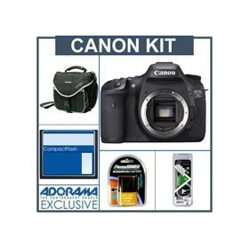 Canon EOS-7D Digital SLR Camera Body Kit - Refurbished - with 8GB CF Memory Card, Spare LP-E6 Type Battery, Slinger Camera Bag, Visible Dust EZ Sensor Cleaning Kit
