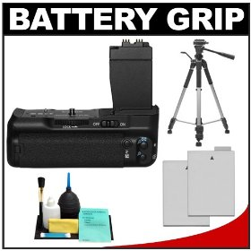 Zeikos BG-E8 Battery Grip for EOS Rebel T2i Digital SLR Camera with (2) LP-E8 Batteries + Tripod + Accessory Kit