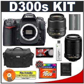 Nikon D300s Digital SLR Camera + 18-55mm + 55-200mm VR Zoom Lens + 16GB Card + EN-EL3e Battery + Case + Cameta Bonus Accessory Kit
