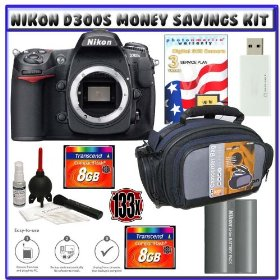 Nikon D300s Digital SLR Camera + Two (2) 8GB Card + EN-EL3e Battery + 3-Year Extended Warranty for Nikon D Series + Case + Starter Accessory Kit