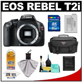 Canon EOS Rebel T2i Digital SLR Camera + 16GB Card + Battery + Case + Accessory Kit