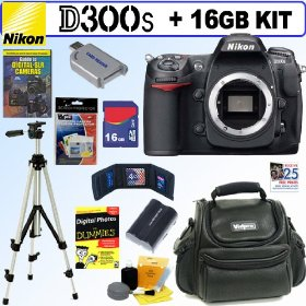 Nikon D300s 12MP CMOS Digital SLR Camera (Body) + 16GB Deluxe Accessory Kit