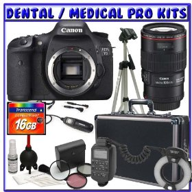 Canon EOS 7D 18MP SLR Digital Camera + Canon EF 100mm f/2.8L IS USM 1-to-1 Macro Lens + Canon MR-14EX Macro Ring Lite + 16GB CF + Tripod + Hard Case + Remote Shutter Release + Willoughby's Dental/Medical Accessory Package