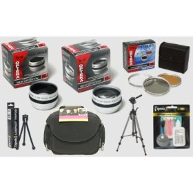 Canon ZR400 ZR300 ZR200 ZR100 MiniDV Digital HD� Professional Accessory Kit
