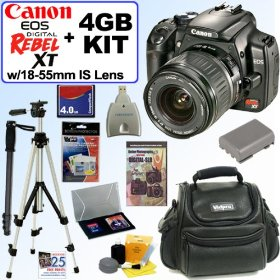 Canon EOS Digital Rebel XT - Digital camera - SLR - 8.0 Mpix - Canon EF-S 18-55mm lens - optical zoom: 3 x - supported memory: CF, Microdrive - black