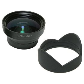 Ricoh GW-1 21mm Wide Conversion Lens with Hood for the GR Digital & GR Digital II Cameras, Requires GH-1 Adapter for Mounting.