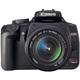 Canon EOS Kiss X (Import model same as XTi / 400D) 10 MP CMOS APS-C Digital SLR Camera with 2.5 inch LCD + EF-S 18-55mm f/3.5-5.6 Lens