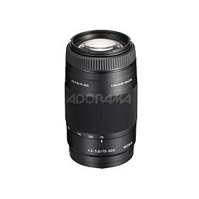 Sony (alpha) A380 14.2 Megapixel DSLR Camera with 18-55mm SAM Kit Lens, Sony 75- 300mm f/4.5-5.6 a SLR Telephoto Zoom Lens,