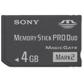 Sony 4 GB Memory Stick PRO Duo Flash Memory Card MSMT4G