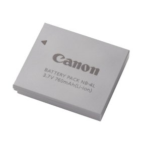 Canon NB-4L Battery Pack for the SD400, SD630, SD600, SD750, SD1000 & TX1 Digital Cameras