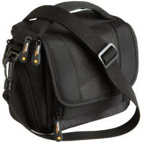 AmazonBasics Camcorder Bag with Shoulder Strap (Black)