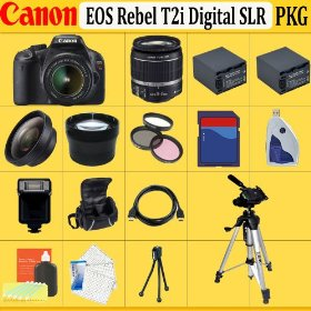 Canon EOS Rebel T2i SLR Digital Camera Kit