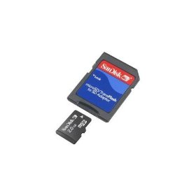 SanDisk 2GB MicroSD/TransFlash Card with SD Adapter (SDSDQ-2048, Bulk Package)