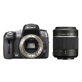 Sony DSLR-A550 14.2 MP Digital SLR Camera (Body) with a Sony 55-200mm f/4-5.6 DT AF Zoom Lens