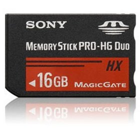 Sony 16 GB PRO-HG Duo HX Memory Stick MSHX16A (Black)