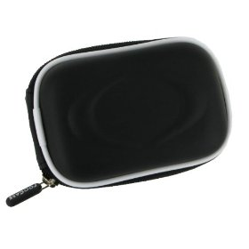 EVA Hard Shell Carrying Case (Black) with Memory Foam for Panasonic Lumix DMC-FH20K Digital Camera Black