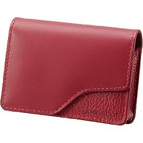Sony LCS-TWA/R Soft Leather Carrying Case Red (Genuine Leather) for Cyber-Shot W and T Series Digital Cameras