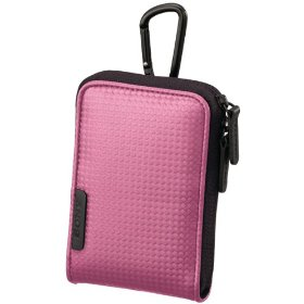 Sony Webbie MHS-PM1 Sporty Carrying Case with Carabineer (Pink)