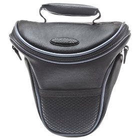 Rokinon Leather-Style Holster SLR Carrying Case for Canon EOS Digital Rebel XS, XSi, XTi, XT, T1i, Digital Rebel, 5D, 7D, 50D, 40D, 30D, 20D & 10D Digital SLR Cameras