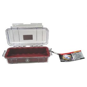 Pelican 1010 Micro-Case (Red w/Clear Lid)